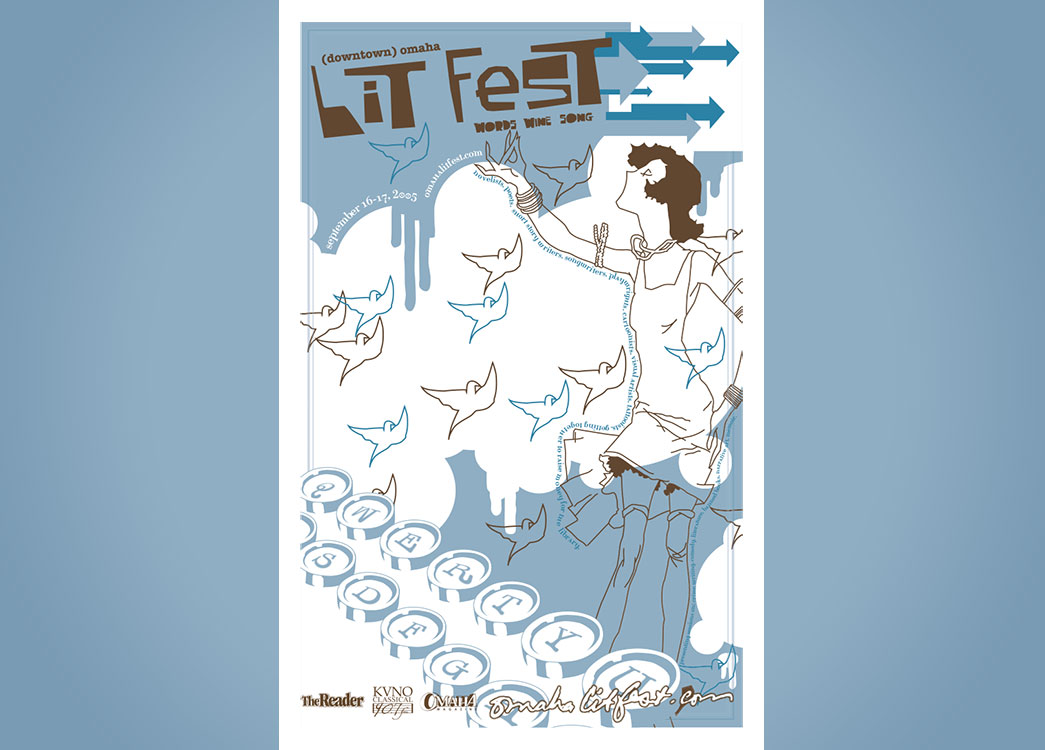(downtown) Omaha Lit Fest poster 2005