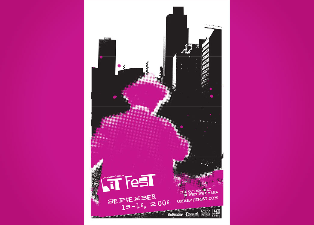 (downtown) Omaha Lit Fest poster 2006